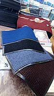 Синий придверный коврик ворсистый для помещения