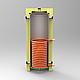 Бак теплоаккумулятор Kraft 2000 с нижним змеевиком без утепления, фото 2