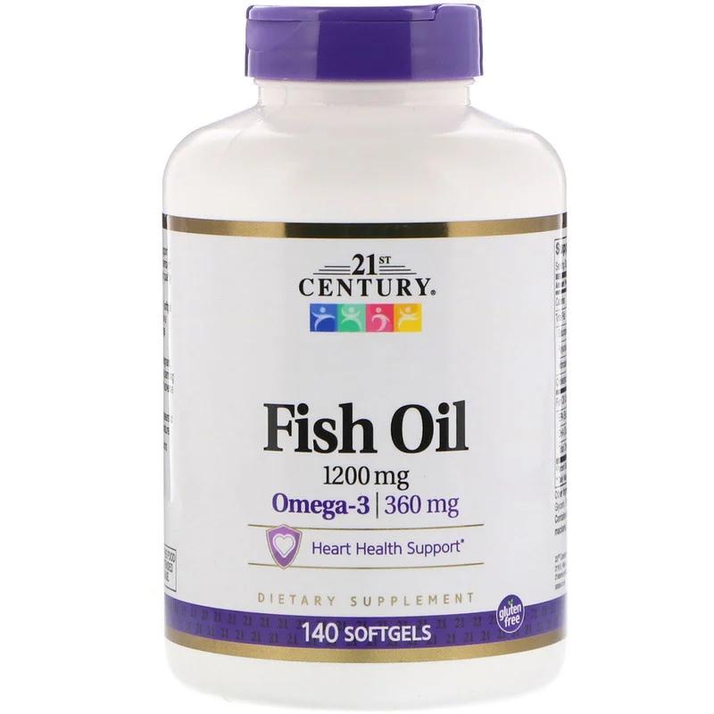 Риб'ячий жир Fish Oil 1200 мг 21st Century 140 капсул