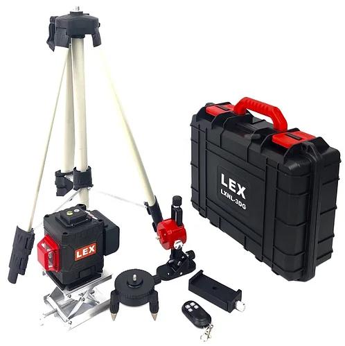 Лазерный уровень LEX LXNL-3DG зеленый луч,возможность использовать на улице