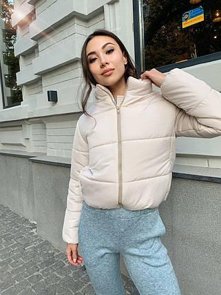 Модная женская осенняя куртка из плащевки 42-48 р, фото 2