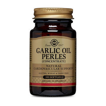 Чесночное масло Solgar Garlic Oil Perles 100 капсул