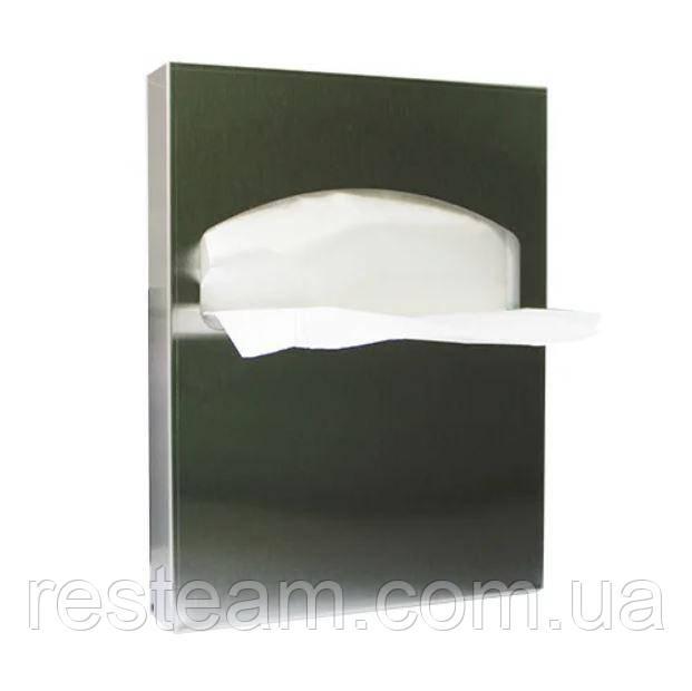 Диспенсер для накладок на унитаз 1/4 нерж сатин D224S