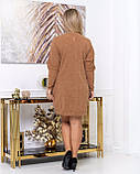 Платье мини повседневное теплое и красивое, осень-зима, разные цвета р.48,52,54,56 Код Кальте, фото 10