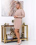 Платье мини повседневное теплое и красивое, осень-зима, разные цвета р.48,52,54,56 Код Кальте, фото 2
