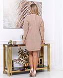 Платье мини повседневное теплое и красивое, осень-зима, разные цвета р.48,52,54,56 Код Кальте, фото 5