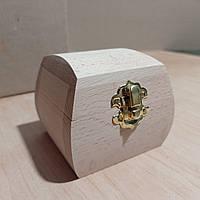Деревянная заготовка для декупажа шкатулка 8х8 см с бархатом