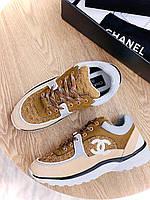 Круті жіночі кросівки Шанель (репліка), фото 1
