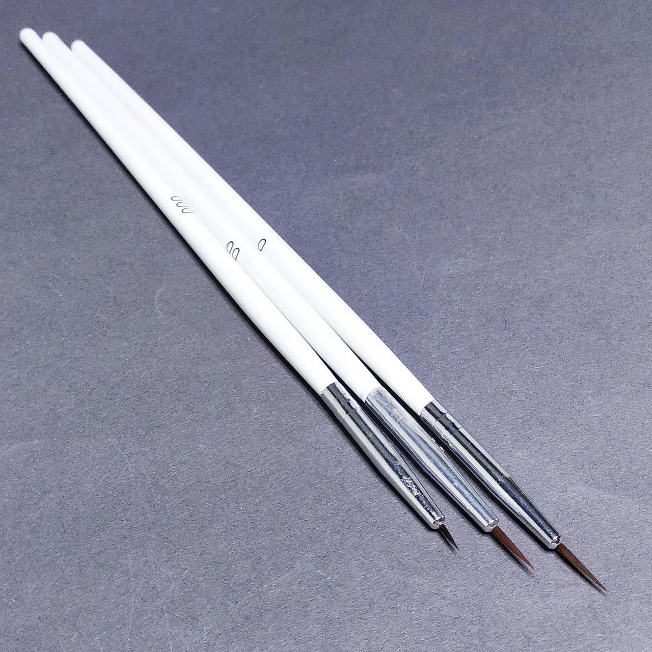 Кисти для росписи ногтей 3 шт