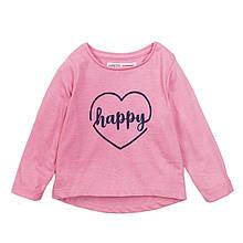 Лонгслив для девочки розовый 1,5 и 3 года