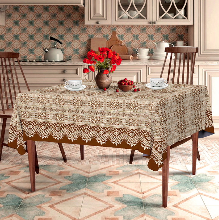 Скатерть на стол для кухни Жемчуг 150х220