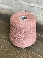 Мериносовая шерсть с люрексом, Итальянская пряжа, Розовый конфетный, розовый