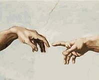 Картины красками по номерам на холсте рисование картин по номерам 40х50 см Создание адама