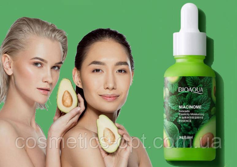 Сыворотка для эластичной кожи с экстрактом авокадо BioAqua Niacinome Avocado Essence, 30 ml