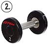 Гантель цельная профессиональная Life Fitness (1шт) 2кг (полиуретановое покрытие, вес 2кг)