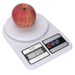Кухонні електронні ваги Kronos SF400 від 1 г до 10 кг Білі (par_MS 400)