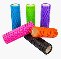 Массажер рулон Массажный валик для тела Zelart Grid Combi Roller 14*45 cм 007 1843-2 разные цвета