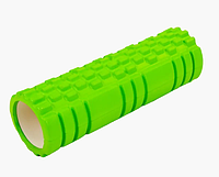 Массажер рулон Массажный валик для тела Zelart Grid Combi Roller 14*45 cм 007 салатовый