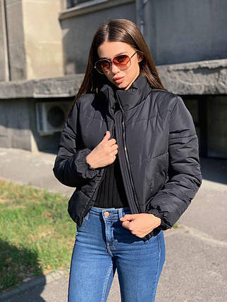 Жіноча демісезонна коротка куртка 42-48 р, фото 2