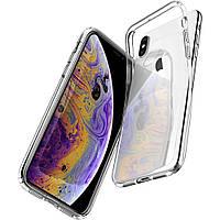 Чехол силиконовый для iPhone X, Xs ультратонкий прозрачный