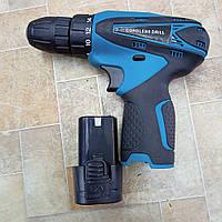 Шуруповерт с набором бит и сверл в кейсе с запасным аккумулятором Cordless Drill