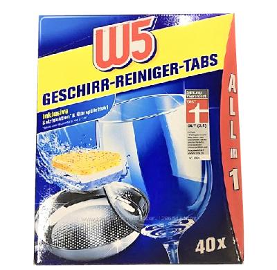 Таблетки для посудомойки W-5 40 шт