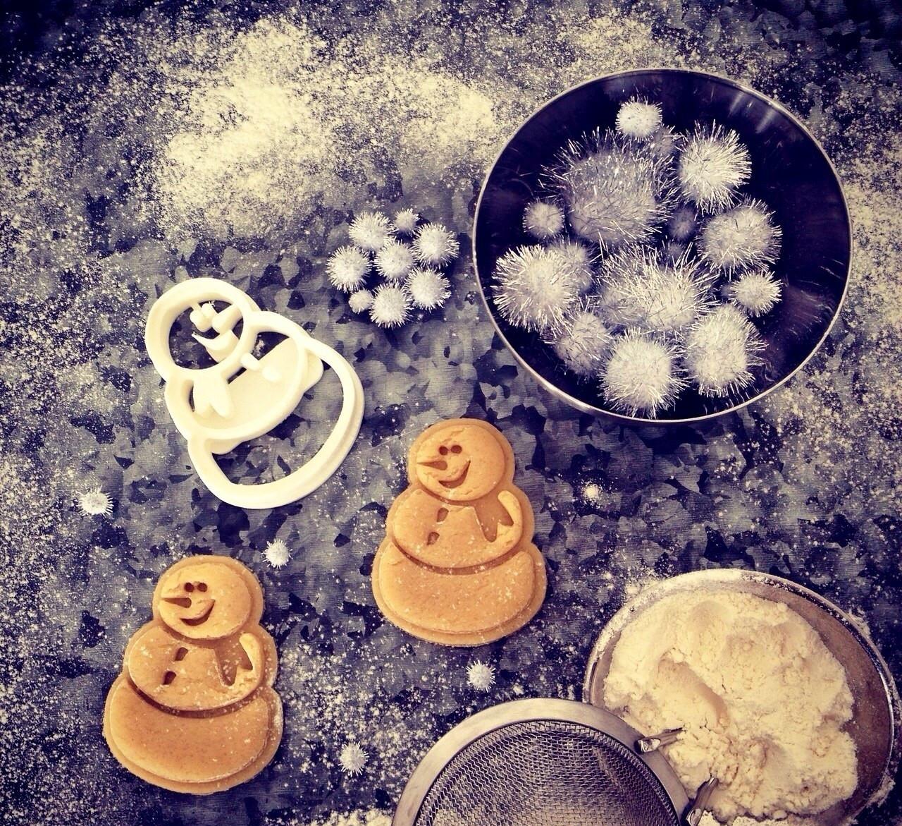 Висічка для пряників у вигляді сніговичка