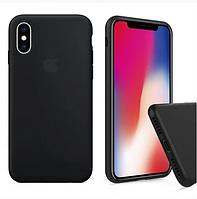 Чехол силиконовый Soft-touch для iPhone X, Xs Black