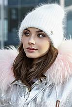 Зимняя женская шапка белая Эллен 154W