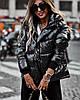 Женская короткая куртка из плащевки с капюшоном