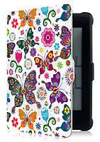 Чехол PocketBook 632 Touch HD 3 - рисунок Бабочки – обложка для Покетбук