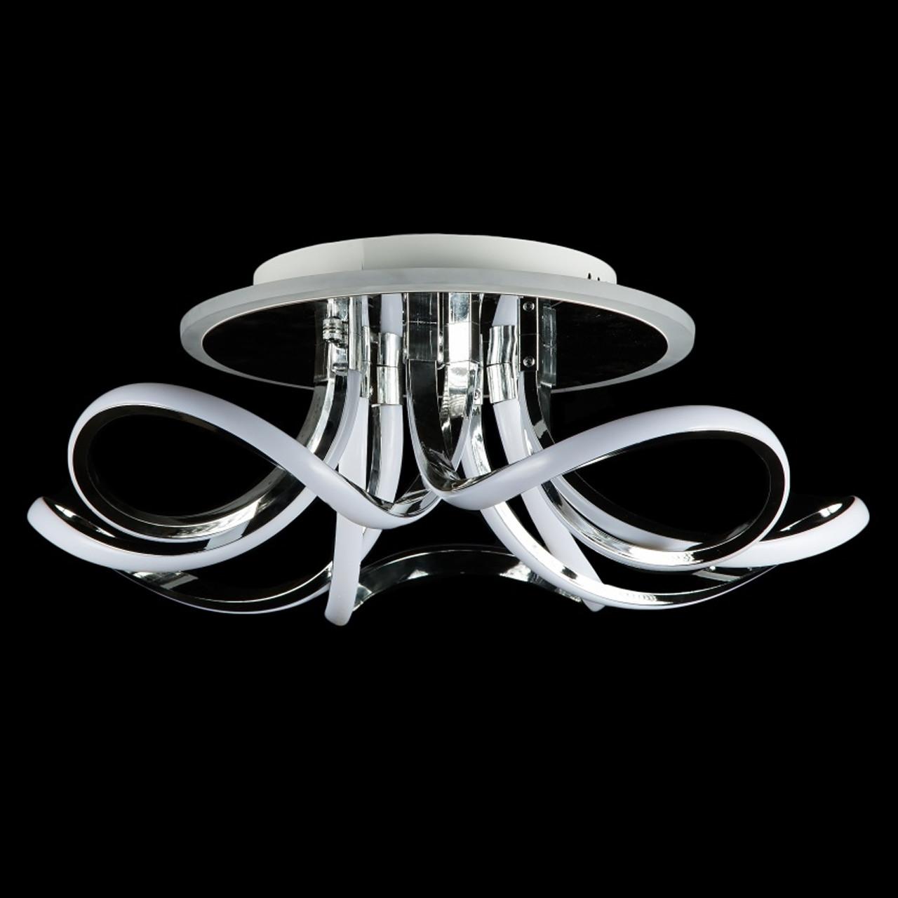 Светодиодная люстра СветМира 120 Вт с диммером и подсветкой основания VL-89697/5 LED (хром)