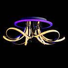 Светодиодная люстра СветМира 120 Вт с диммером и подсветкой основания VL-89697/5 LED (хром), фото 2