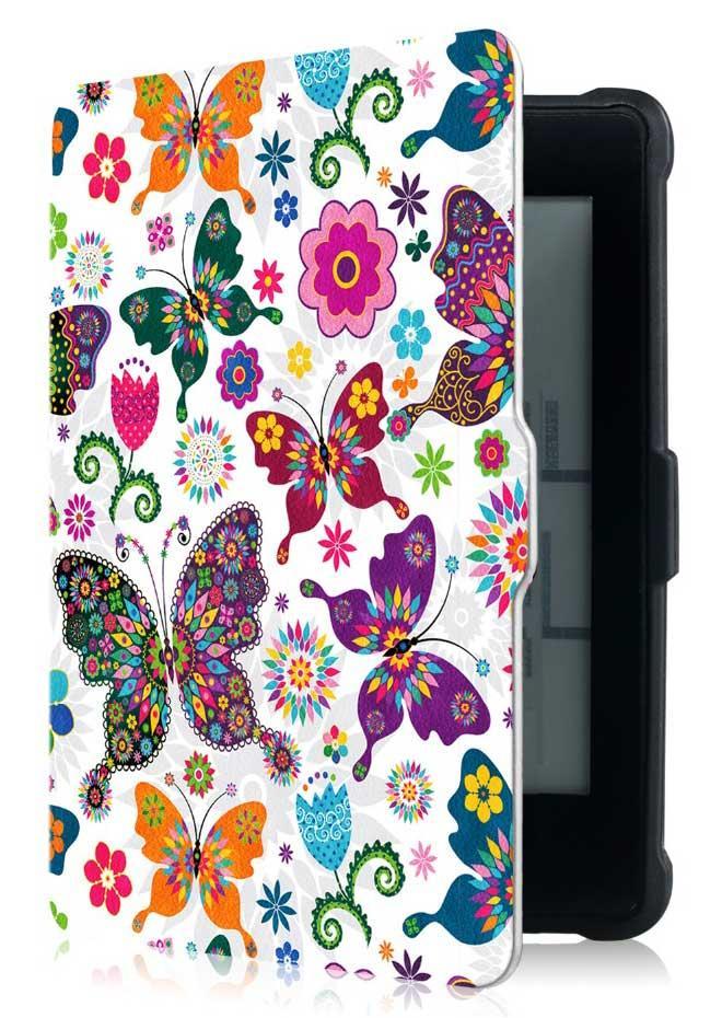 Чехол PocketBook 628 Touch Lux 5 - рисунок Бабочки – обложка для Покетбук