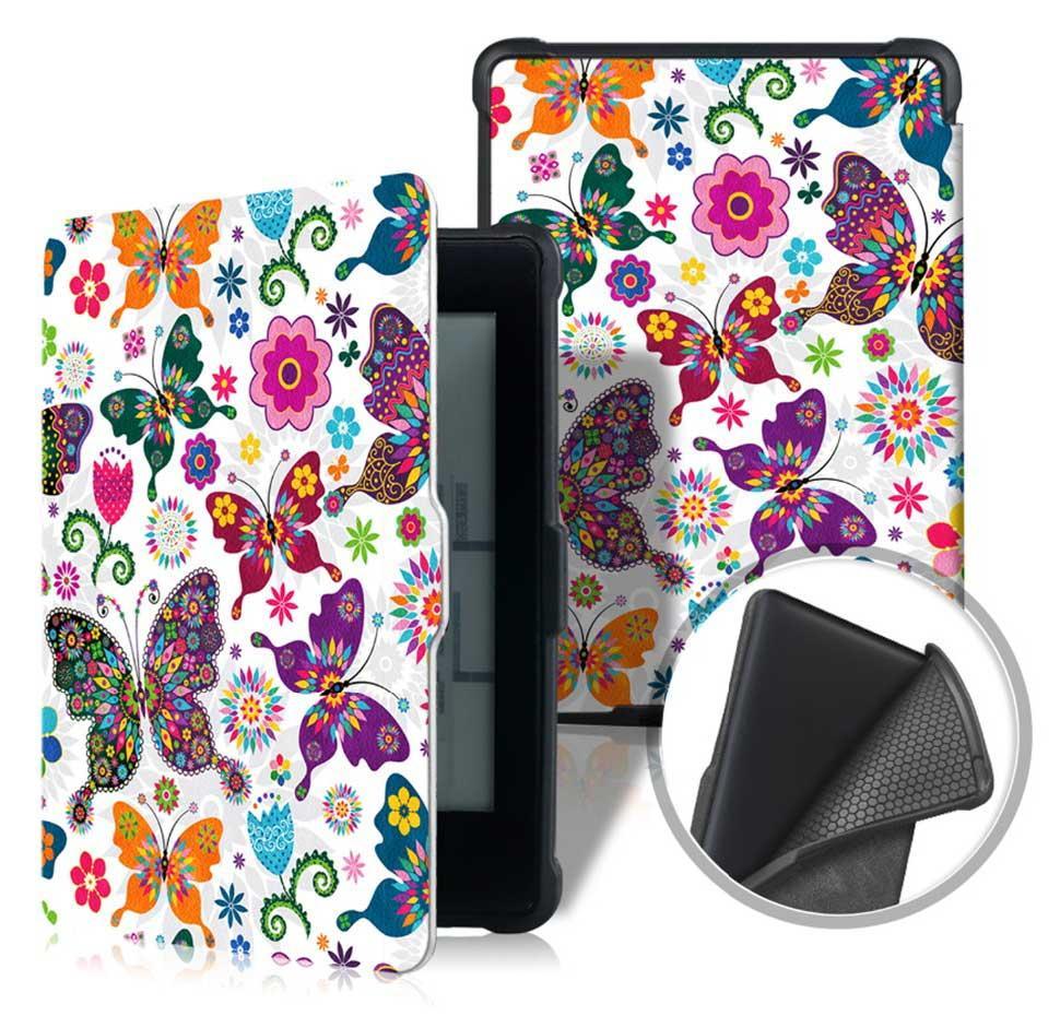 Чехол для PocketBook 633 Color - рисунок Бабочки – обложка электронной книги Покетбук