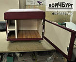 Пуф шкафчик на колесиках, фото 2
