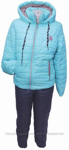 Спортивный костюм женский утепленный норма плащевка