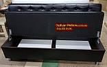 Диван Ренессанс с ящиком черный 1800х550х900мм, фото 2