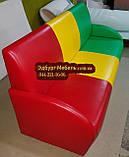 """Диван """"Светофор"""" для детской комнаты, садика, кафе с подлокотниками, фото 3"""