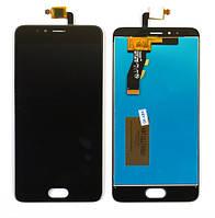 Дисплей и сенсор (дисплейный модуль) для Meizu M5s black + подарок