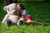 Плюшевый мишка Потап 150 см Серый цвета