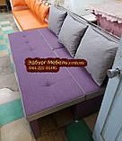 Диван для узкой и длинной комнаты с ящиком + спальным местом 1800х600х850мм, фото 4