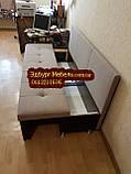 Диван для узкой кухни, коридора с ящиком + спальным местом 1800х550х850мм, фото 6