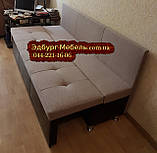 Диван для узкой кухни, коридора с ящиком + спальным местом 1800х550х850мм, фото 7