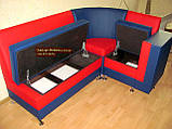 Красно-синий кухонный уголок с баром Престиж, фото 2
