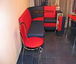 Красно-синий кухонный уголок с баром Престиж, фото 3