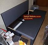 Диван для узкой и длинной комнаты с ящиком + спальным местом 1600х600х850мм, фото 4