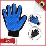 Массажная перчатка для собак true touch Перчатка для вычесывания кошек и собак и чистки животных, фото 2
