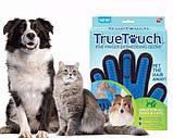 Массажная перчатка для собак true touch Перчатка для вычесывания кошек и собак и чистки животных, фото 5