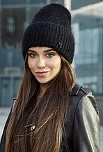Женская шапка теплая черная 155W
